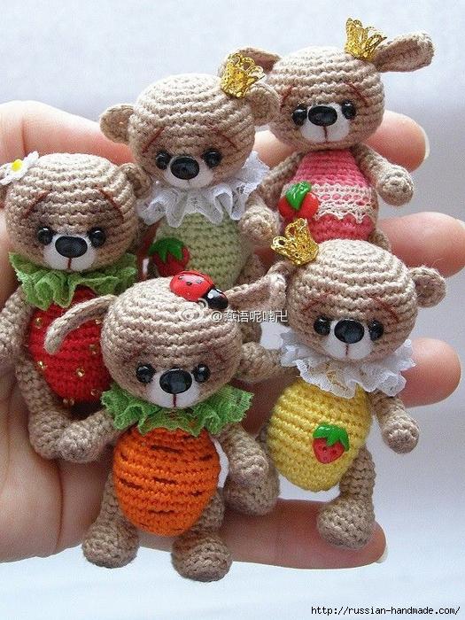 Маленькие игрушки вязание