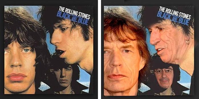 Всемирно известные музыканты на обложках старых альбомов тогда и сейчас
