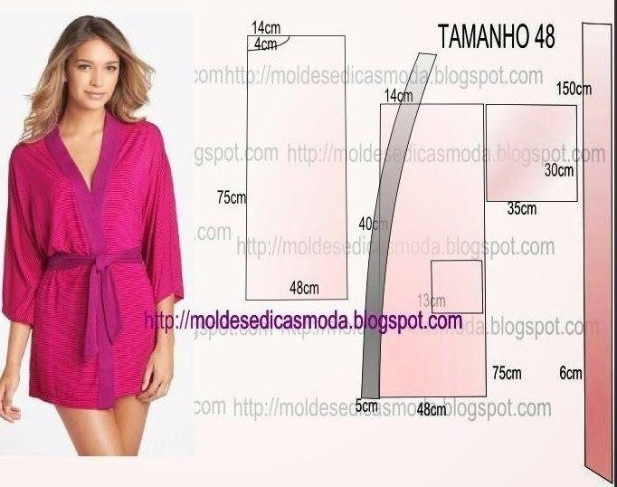 Женский халат с выкройками