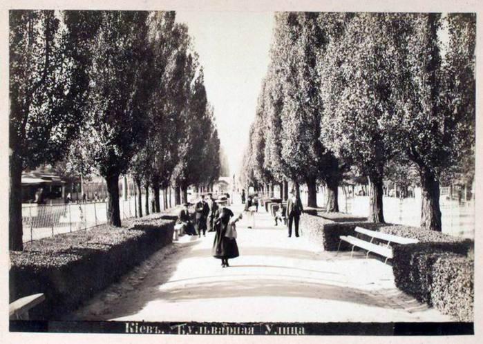 1890-е-годы-Бульвар-Шевченко-на-аллее (700x498, 79Kb)
