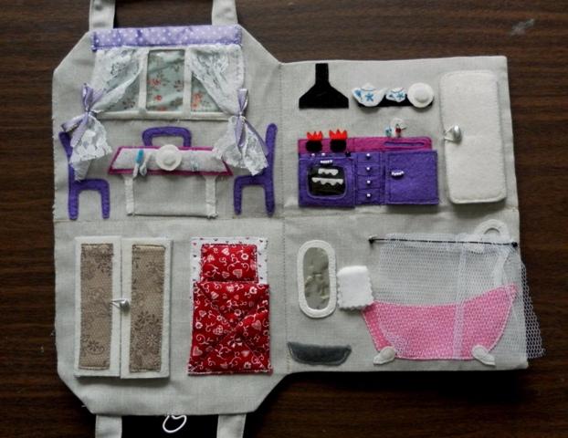 получила вычет кукольный домик сумка из ткани время купания
