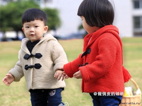 Курточка с капюшоном спицами для малыша (4) (577x431, 173Kb)