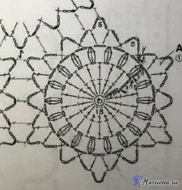 Круглые мотивы крючком для разноцветного пледа (4) (600x625, 448Kb)