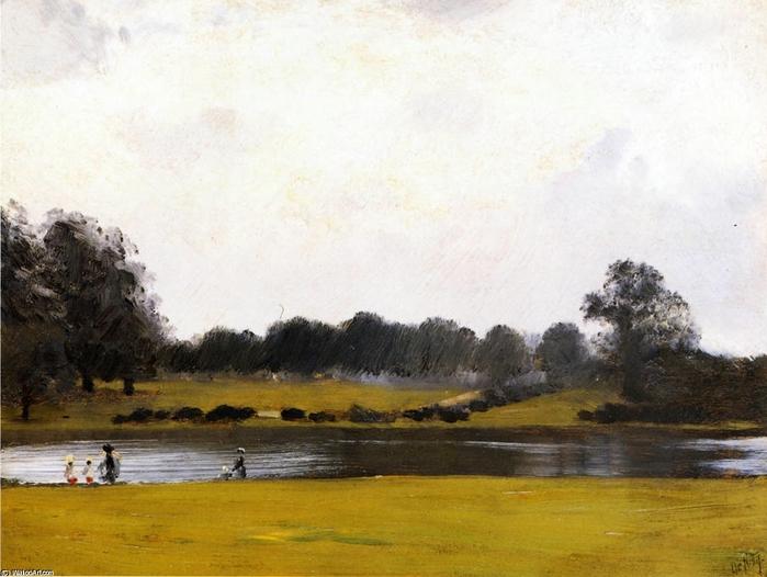 Giuseppe-De-Nittis-The-Serpentine-Hyde-Park-London (700x526, 243Kb)