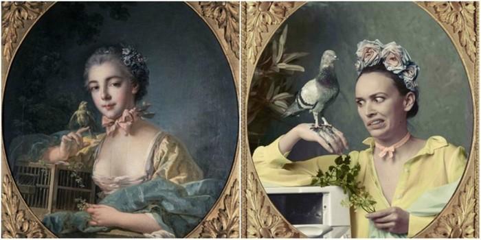 Пользователи Instagram воссоздали знаковые произведения французского искусства