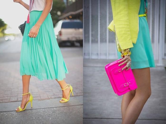 Fashion Inspiration: Эффектные сочетания ярких цветов