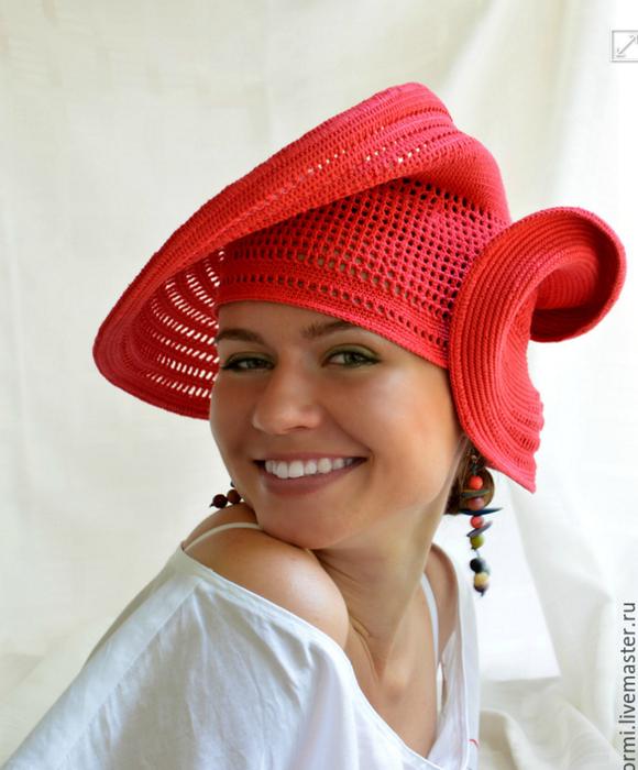 欣赏:惊人的针织�生花帽 - maomao - 我随心动