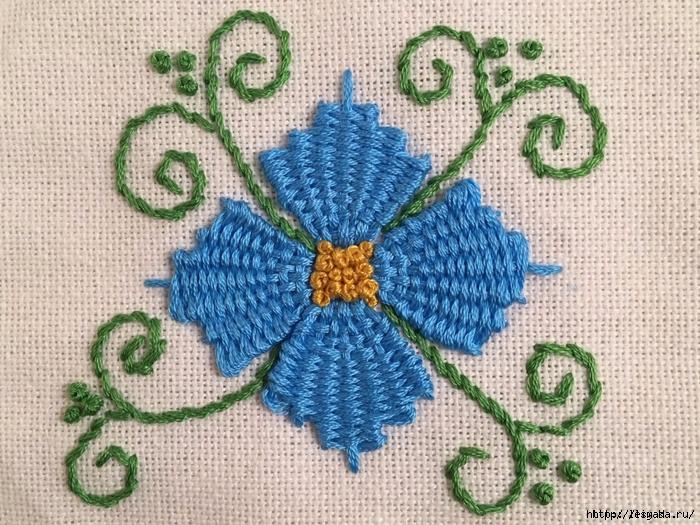Вышивка сделанная французскими узелками