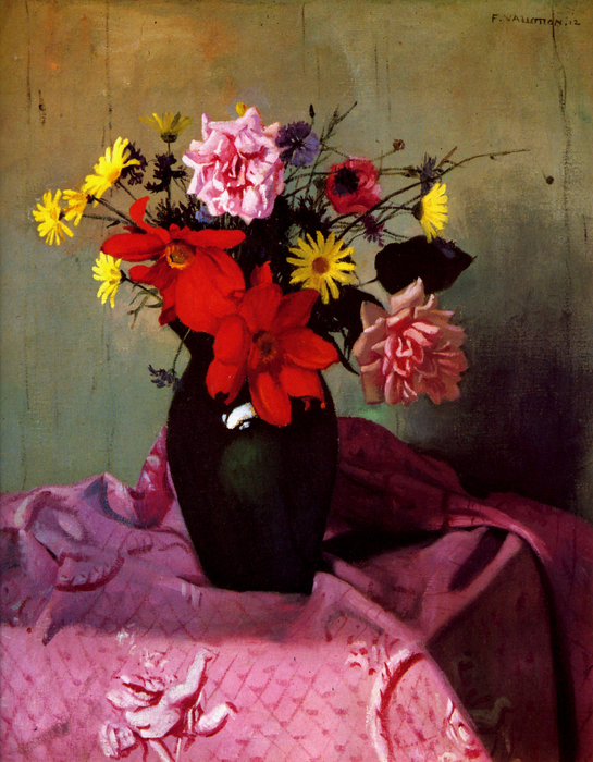 029_Pinks and daisies or Pinks and dahlias - Felix Vallotton (545x700, 578Kb)