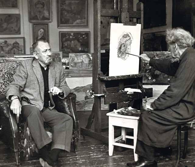 Мартирос Сарьян пишет портрет Джона Стейнбека. 1963 г. (641x550, 175Kb)