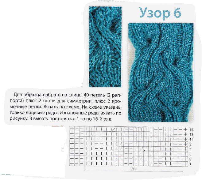 Вязание спицами. жгут. схема 700