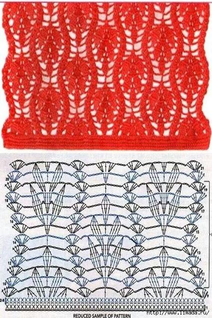 grilles pour une Г©tole ou un plaid printanier au crochet17 (427x640, 289Kb)