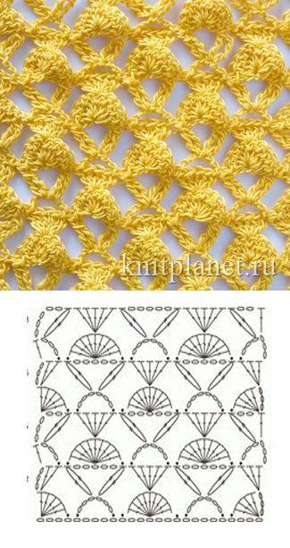 grilles pour une Г©tole ou un plaid printanier au crochet11 (325x613, 220Kb)