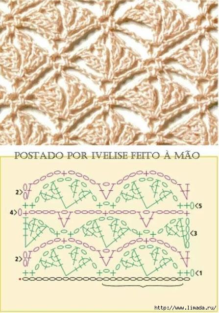 grilles pour une Г©tole ou un plaid printanier au crochet9 (447x640, 208Kb)