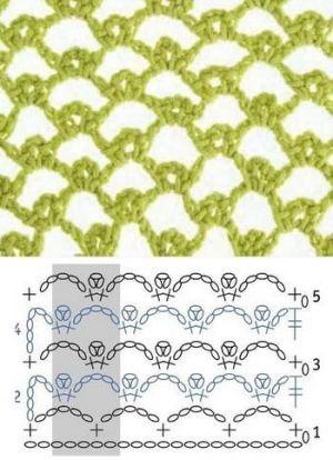 grilles pour une Г©tole ou un plaid printanier au crochet5 (300x414, 110Kb)