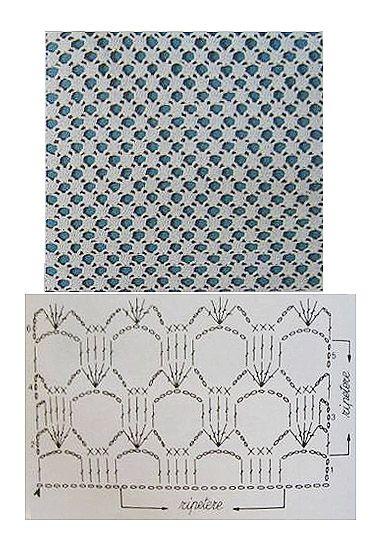 grilles pour une Г©tole ou un plaid printanier au crochet13 (376x552, 205Kb)