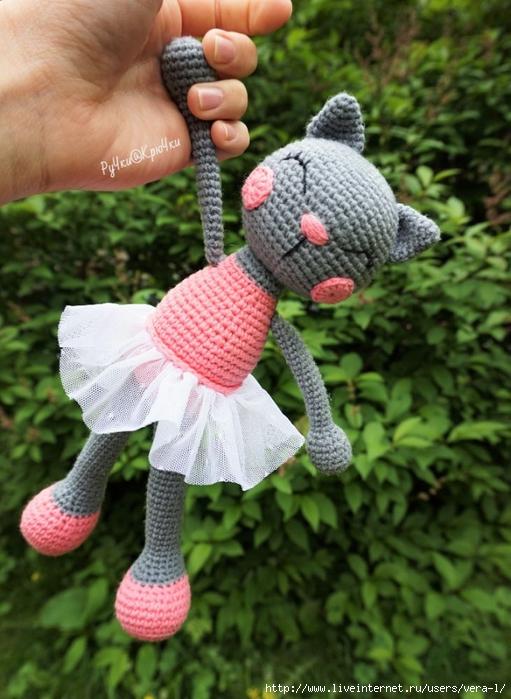 Связать кошку балерину