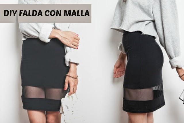 Falda con Malla Diy Reciclando Vestuario (640x427, 124Kb)