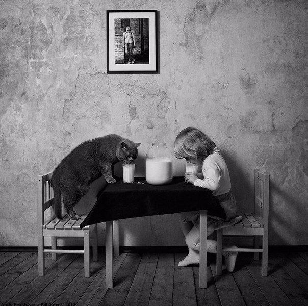 Кот - лучший друг человека (604x600, 197Kb)