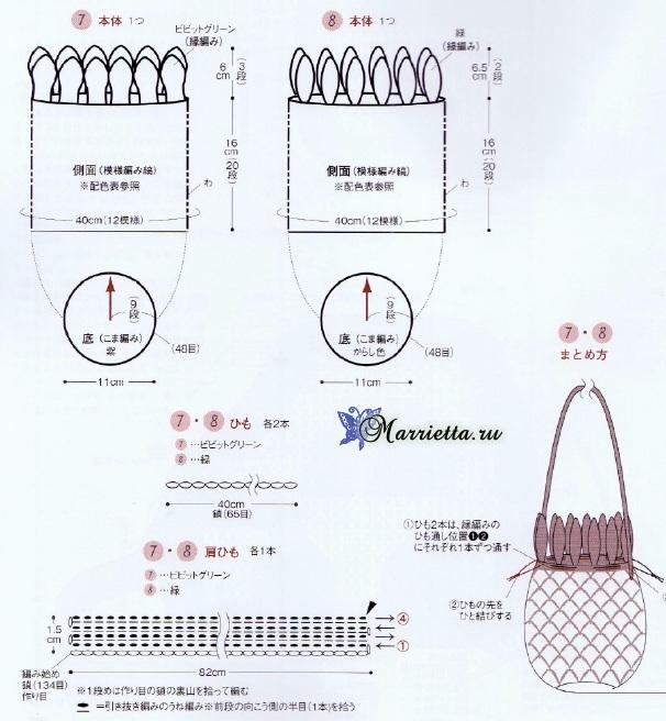 Ананас, лимон и арбуз - сумочки крючком для девочки (6) (606x656, 289Kb)