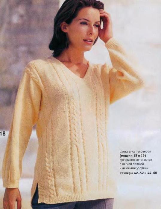 Вязание свитеров на спицах для полных женщин