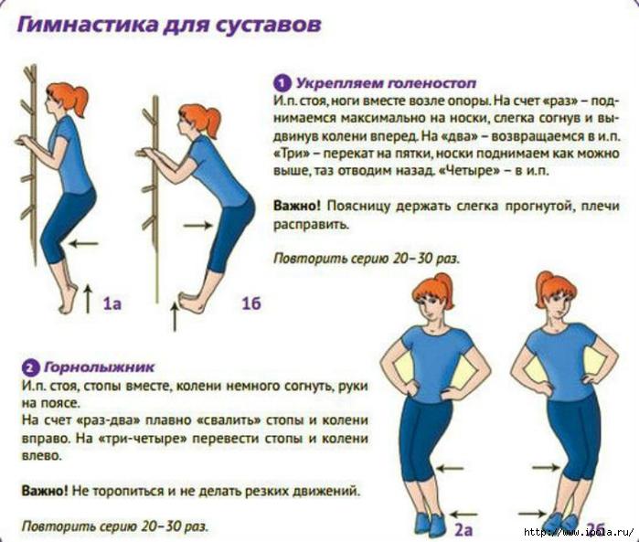 Упражнение для колен в домашних условиях