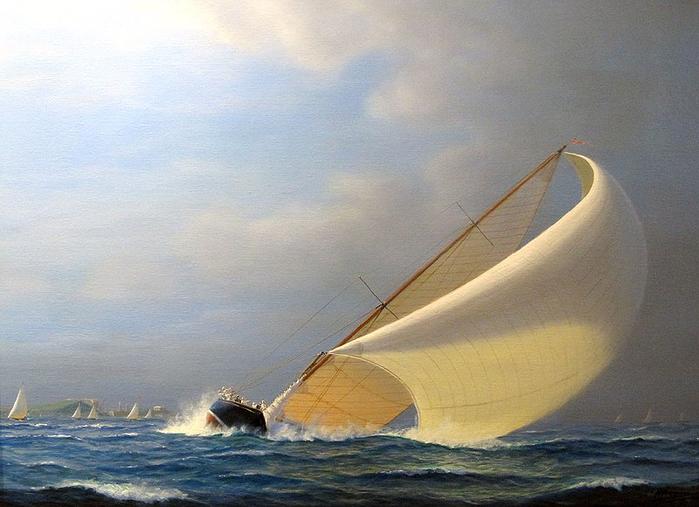 Tim Thompson 1951 - British Seascapes painter - Tutt'Art@ (4) (700x507, 332Kb)
