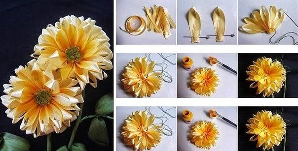 цветы из ткани 12 (604x307, 198Kb)
