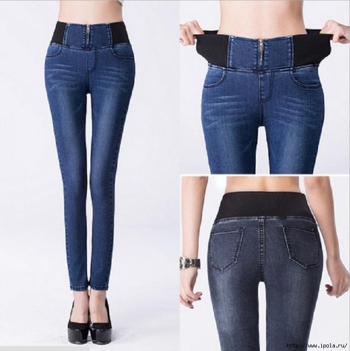 Как сделать завышенную талию на джинсах своими руками