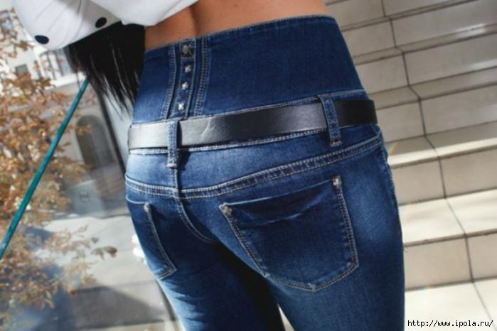 Как сделать джинсы завышенными 425
