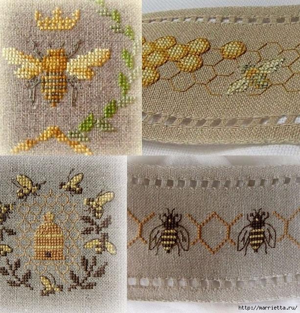 Красивая вышивка для украшения баночек с медом (1) (613x640, 429Kb)