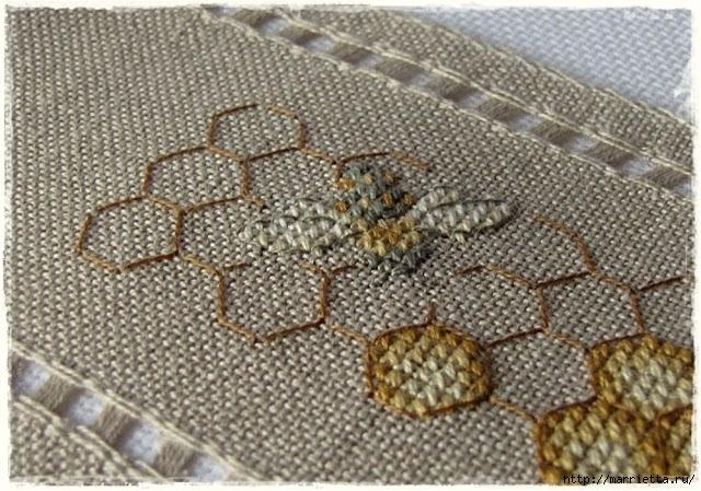 Красивая вышивка для украшения баночек с медом (2) (640x449, 269Kb)