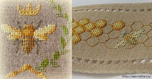 Красивая вышивка для украшения баночек с медом (6) (640x332, 219Kb)