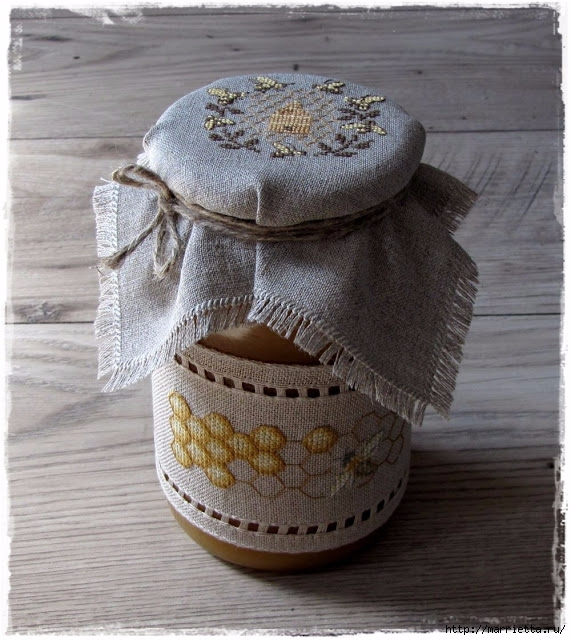 Красивая вышивка для украшения баночек с медом (17) (571x640, 263Kb)