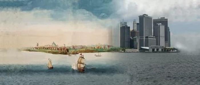 Новый Амстердам и Новый Йорк (700x300, 40Kb)