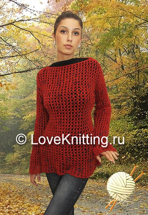 04 Автор Сетчатый пуловер 1 МТ2 (483x700, 535Kb)