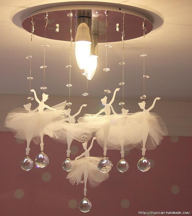 Балеринки под потолком. Красивая идея для детской комнаты (2) (624x700, 310Kb)