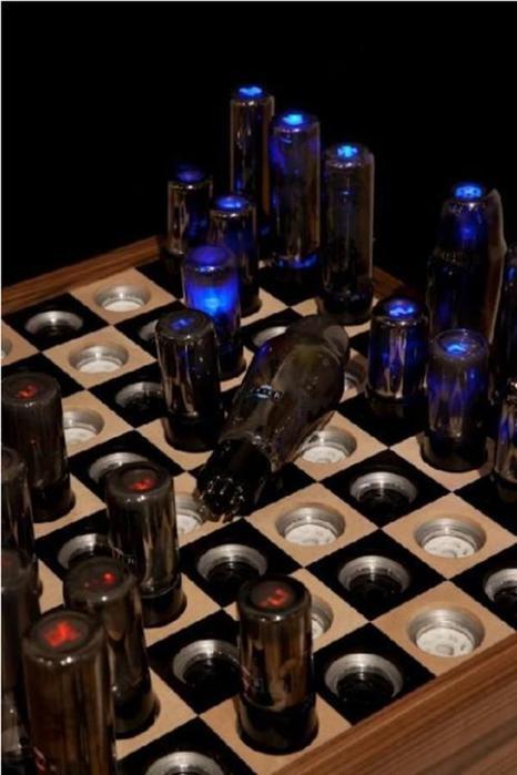 Вакуумные светящиеся шахматы будущего