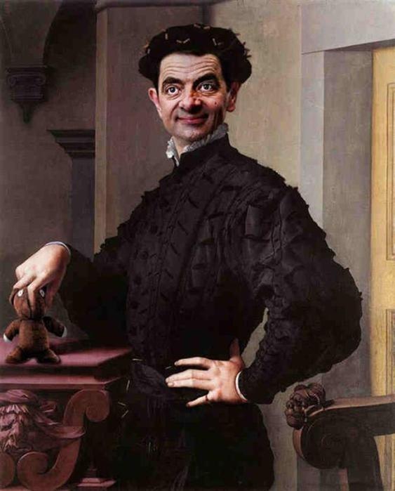 Исторические портреты с комиком Мистером Бином (фото)
