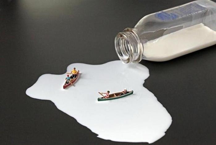 Миниатюры в «продуктовом мире» (Christopher Boffoli)