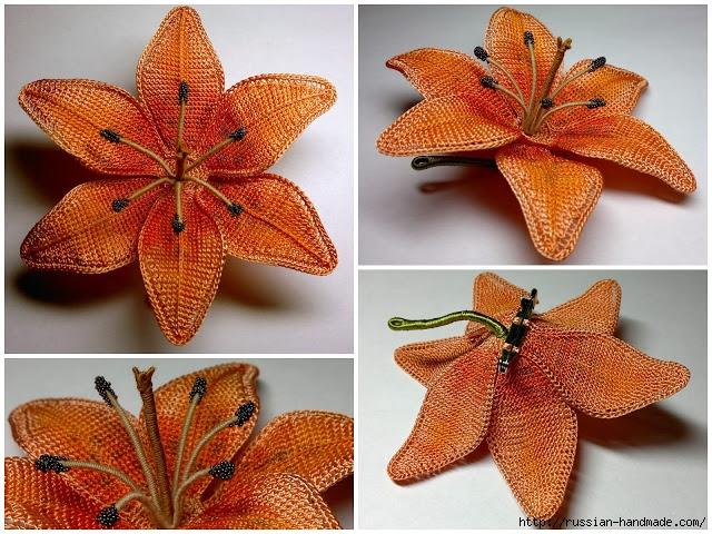 Цветы крючком. Тигровая лилия (5) (640x480, 306Kb)