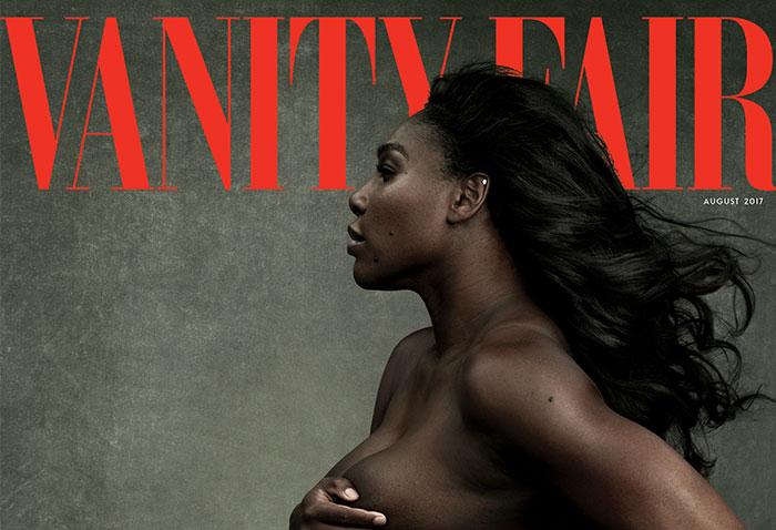 Серена Уильямс в положении на обложке Vanity Fair