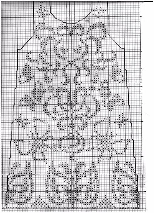 Филейное вязание крючком розы для топа платья кофты схемы 100