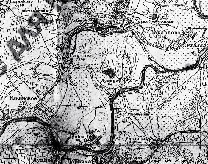 Рис.2.2.2.2 Карта середины 30-х годов. Москву-реку пустили по новому руслу, т.к. во время весенних половодий трупы расстрелянных уносило в Москву. (700x552, 503Kb)