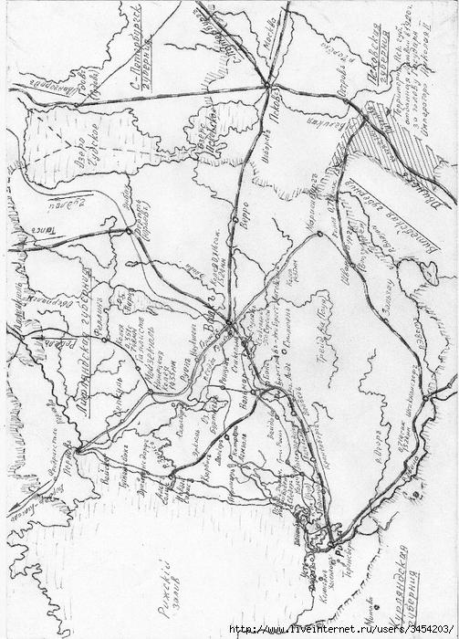 Рис.2.1.7.10 Схема железных дорог 1917 г. (503x700, 319Kb)