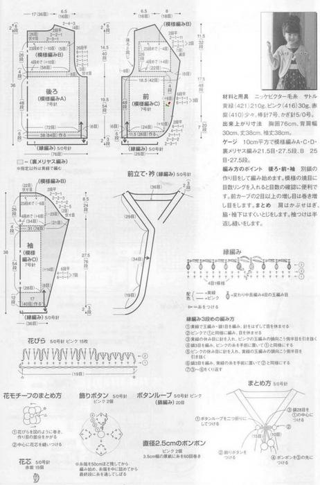 Вязание спицами. Детский жакет. схема/3071837_152 (462x700, 190Kb)