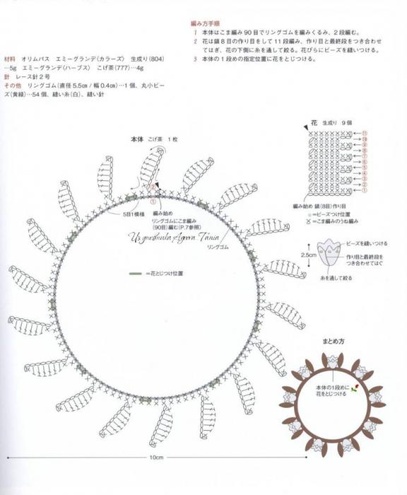 Вязание крючком. Резинки для волос. схемы вязания/3071837_232 (576x700, 177Kb)