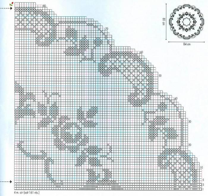 Салфетки филейной вязкой и в стиле брюггского кружева. схема вязания/3071837_263 (700x658, 112Kb)