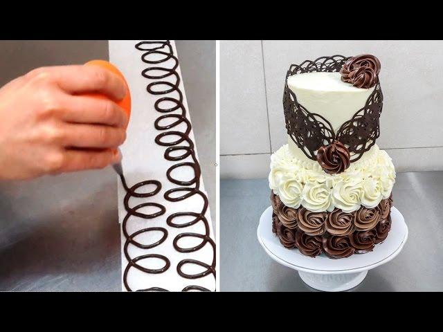 Украшения из шоколада на торт