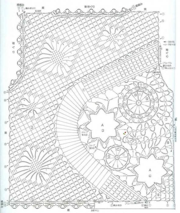 Вязание крючком. Ажурный жилет. Схема вязания крючком/3071837_303 (591x700, 301Kb)